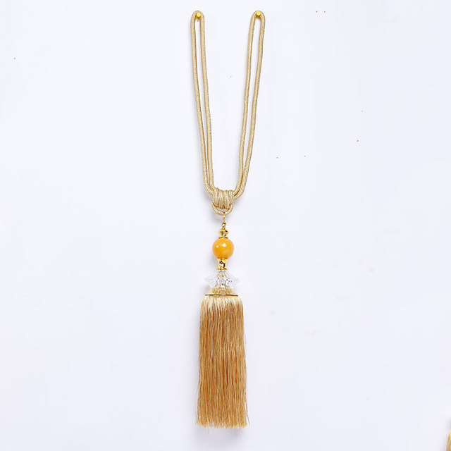New listing 1 pair of jade single ball curtain hanging ball curtain strap high-end tassel curtain decoration accessories 1
