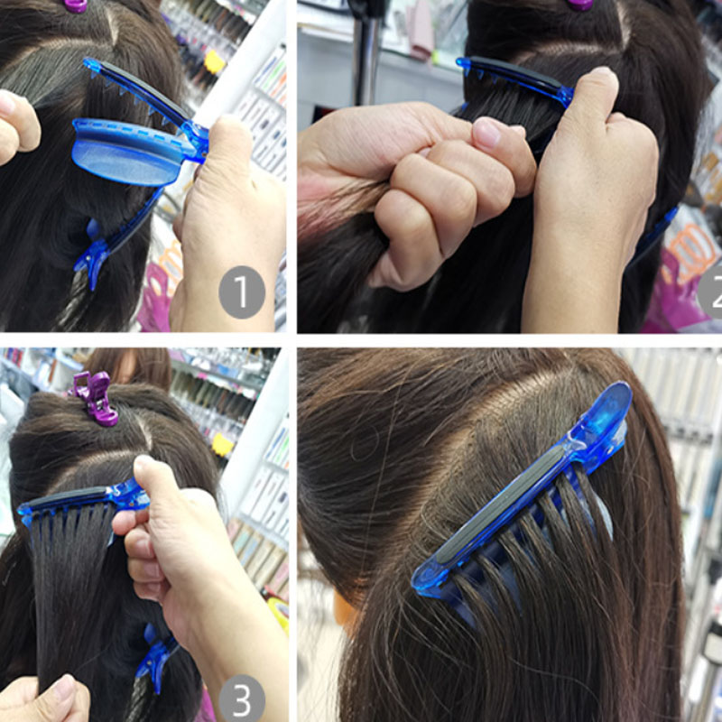 Easy/ Speed Separator Clips Blue Color 1 pieces/lot Sectioning Clips for Hair Extension