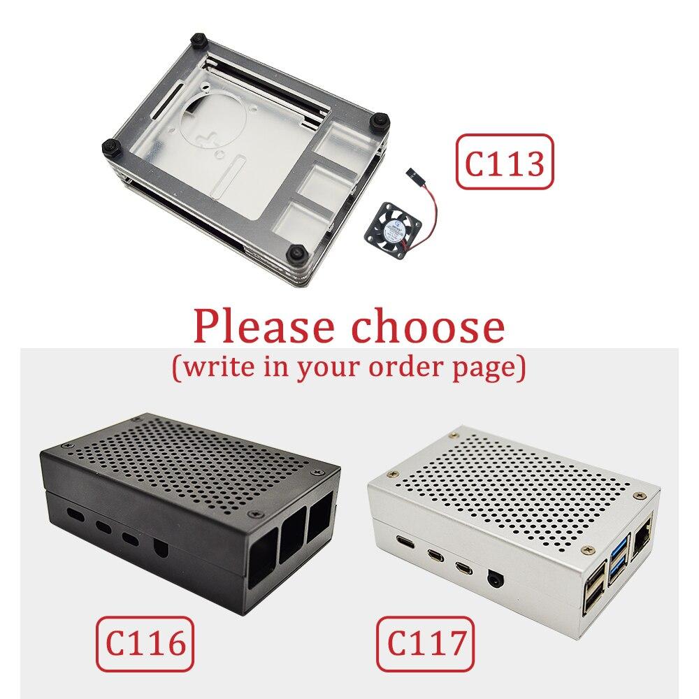 Raspberry Pi 4 B 2 GB/4 GB kit 3 types de boîtier + adaptateur secteur ue + ligne de commutation + carte TF 16 GB/32 GB + lecteur de carte USB + câble HDMI - 4