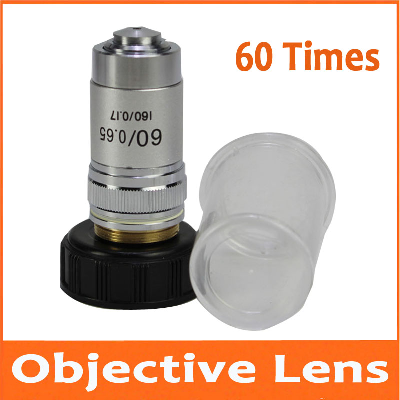 60 Times 60X 195 Biomicroscope System Achromatic Lab Laboratory Education Bio-Microscope Biological Microscope Objective Lens