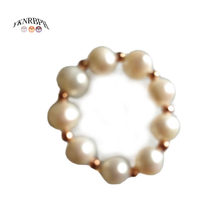 YKNRBPH Female Luxurious 14K Rose Pearl Ring Women's Engaged Round Freshwater Pearl Fine Rings(China)
