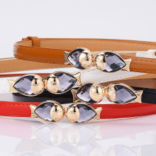 Women's Belts Leather Jewelry Goldfish Buckle Decorative Thin Waist Band Jeans Dress Accessories High Quality Designer Belt