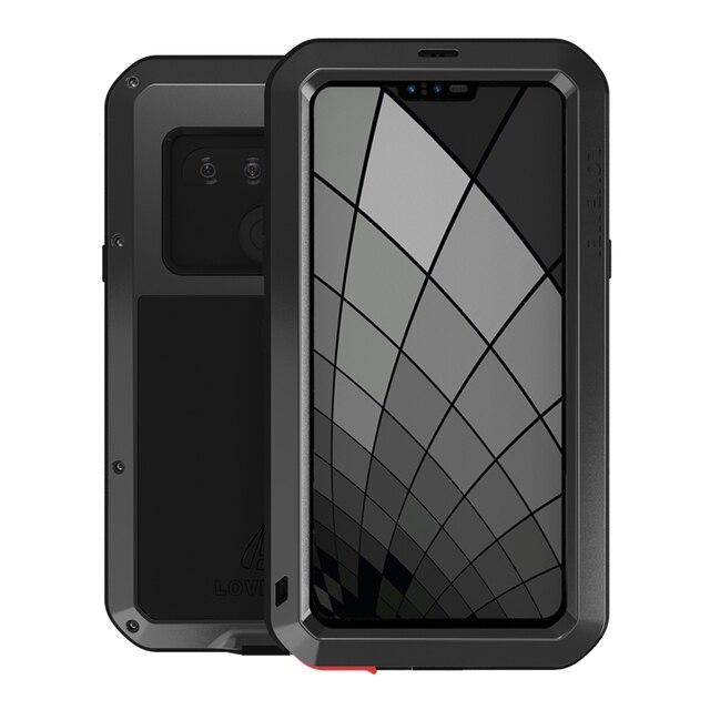 اغلفة ال جي G8S thinQ الفاخرة Doom درع واجب مقاوم للماء للصدمات معدن الألومنيوم غطاء الهاتف ل LG G8s ThinQ ثلاث كاميرات
