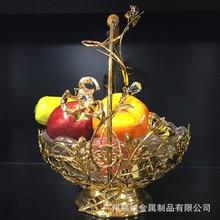 Wedding Basket European style diamond lace metal glass snack dry fruit snack fruit plate Hotel KTV luxury accessories