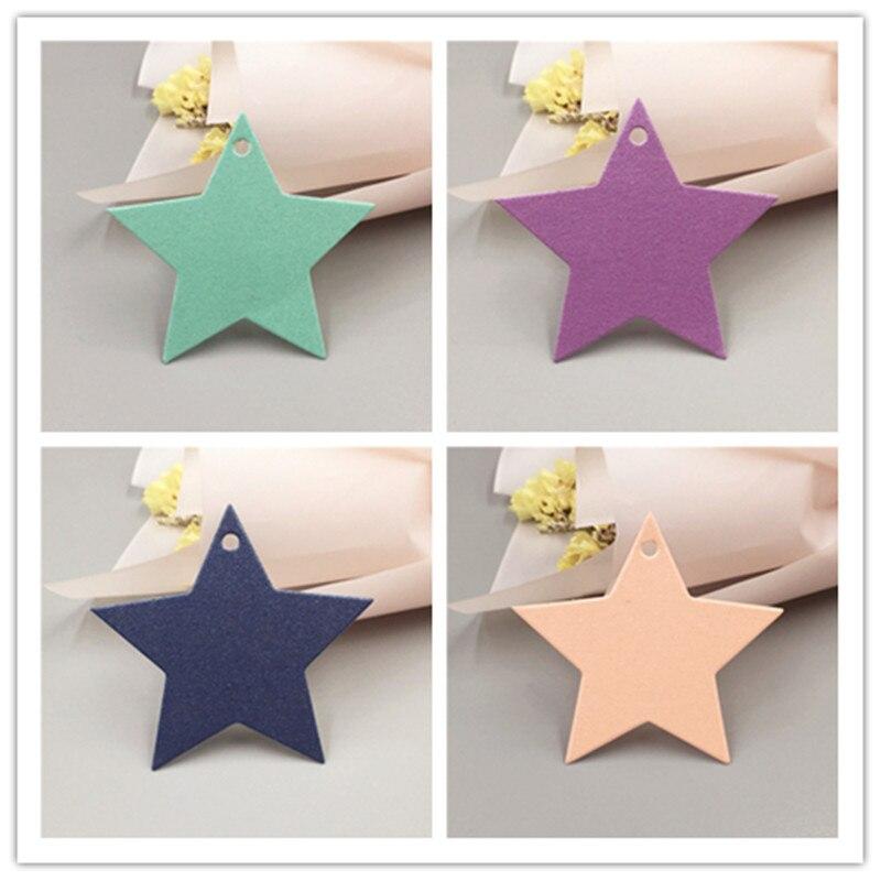 1000 Pcs/Lot papier étoile en forme de petite boîte-cadeau emballage accrocher prix étiquette étiquettes pour artisanat à la main bagages nourriture nom Note carte étiquettes