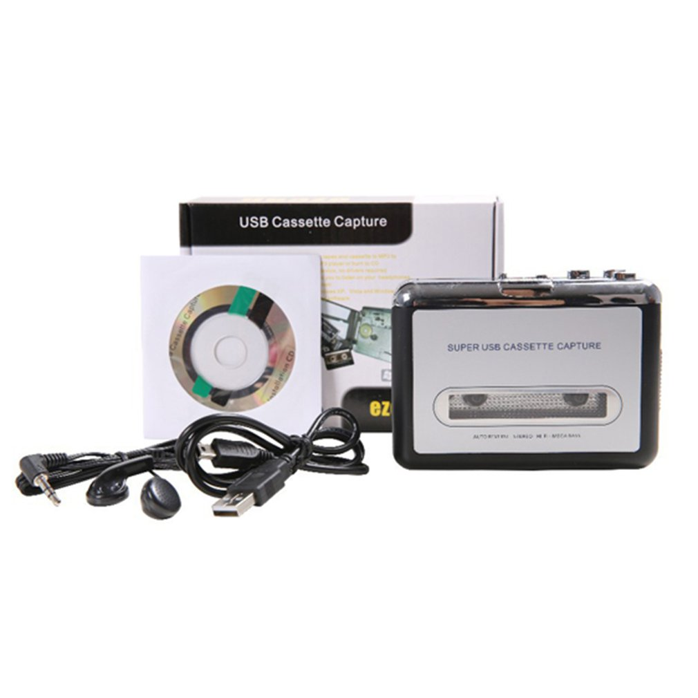 USB Tape Cassette Player Tape Converter To MP3 Capture Audio Music Player Exquisitely Designed Durable Gorgeous