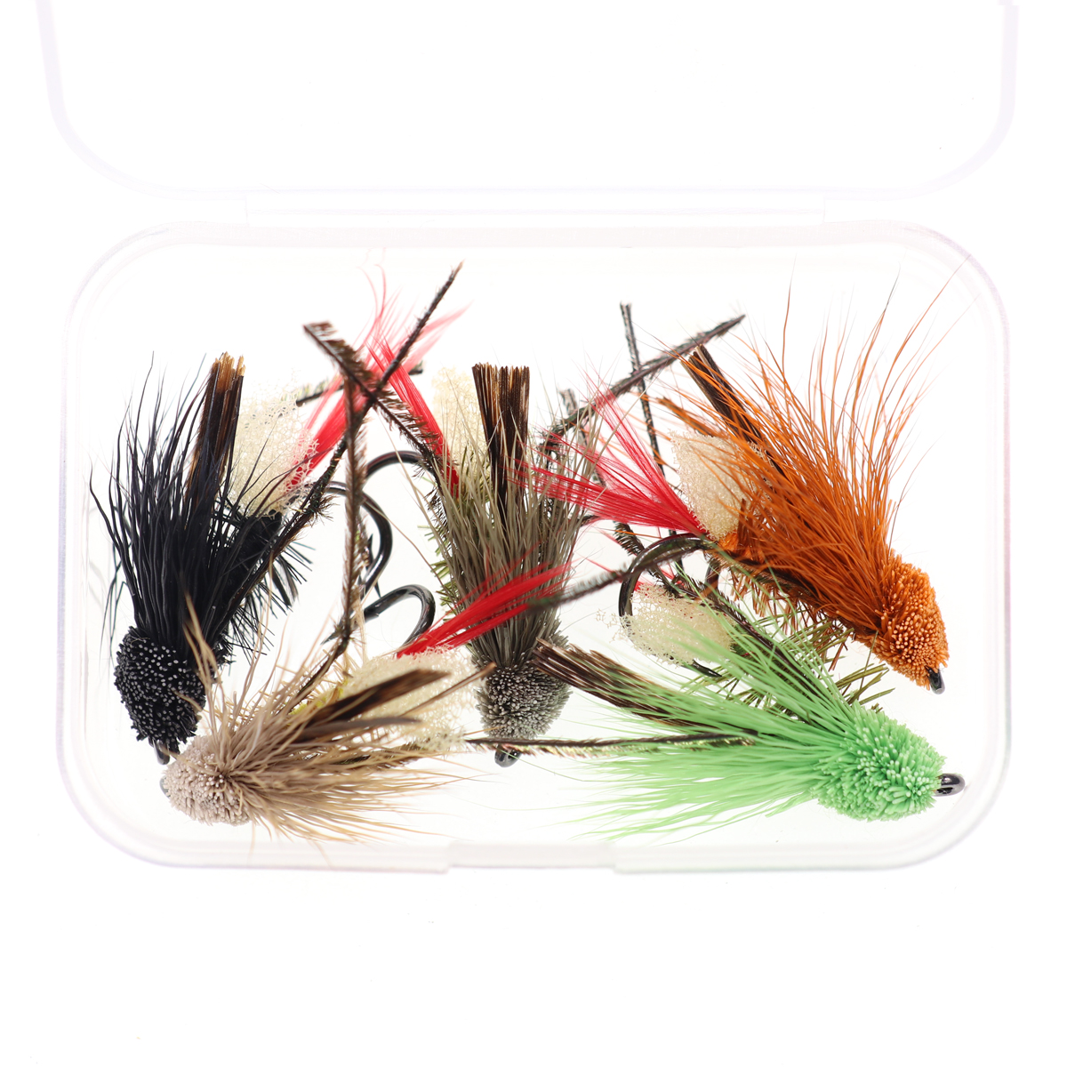 5PCS #10 Trout Fishing Fly Grass Hopper Fly terrestrial Hopper Fly Floating Bass Crappie Bug Bait Artificial Lure 8