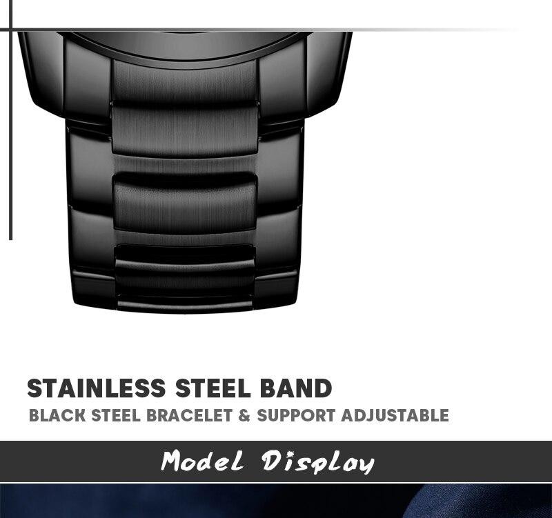 SWISH Luxury Stainless Steel Watches for Men Top Brand Designer Chronograph Quartz Watch Waterproof Golden Clock reloj hombre