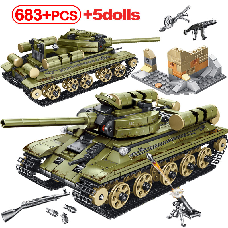 City Series WW2 Empires Of Steel Technic Blocks Army Truck Building Blocks Legoingly German Tiger Tank Toys For Children Boys