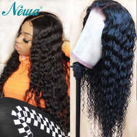 Newa Hair Lace Front Human Hair Wigs Pre Plucked With Baby Hair Curly Lace Front Wigs For Black Women 13x6 Brazilian Remy Wigs