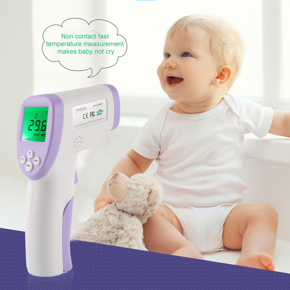 Coolpad Non-contact Forehead Thermometer Portable Infrared Forehead Thermometer For Measuring Human Body Temperature