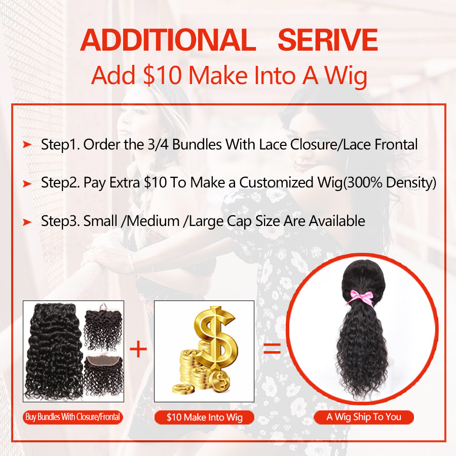 RXY Water Wave Bundles with Frontal Brazilian Hair Weave Bundles Human Hair Ear to Ear Lace Frontal Closure with Bundles Remy