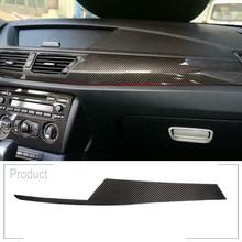 Real Carbon Fiber Style Car Interior Center Console Decorative Panel Cover Trim for BMW x1 E84 2011-2015 LHD