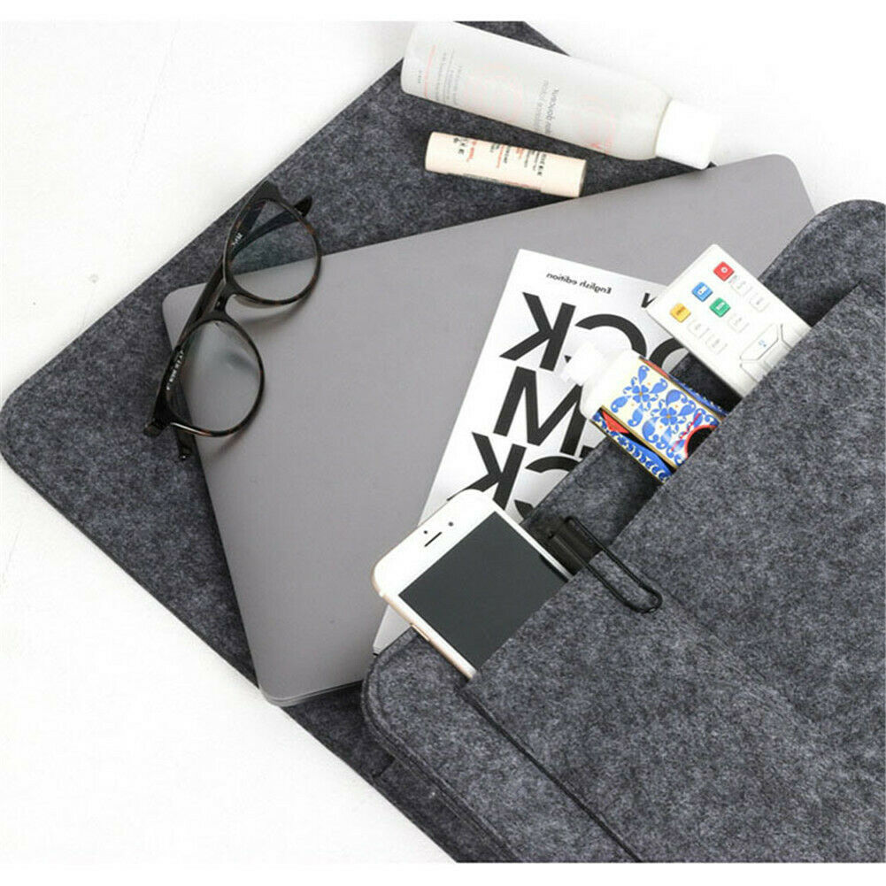 Hot Bed Holder Bedside Felt Storage Bag with <font><b>Pockets</b></font> Bed <font><b>Sofa</b></font> Desk Hanging Organizer <font><b>for</b></font> Phone Magazines Tablets <font><b>Remotes</b></font> D6 image