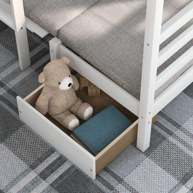 Twin Over Twin Kids Bedroom Furniture Set  4