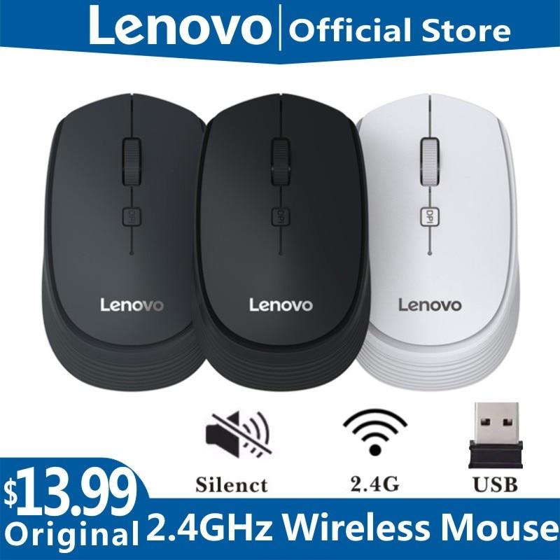 Lenovo m202 sem fio mini computador mouse conexão usb 2.4ghz sem fio ratos notebook desktop1600dpi mudo mous