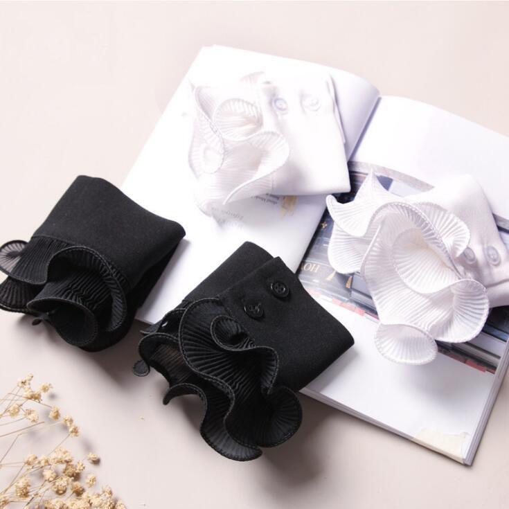 Decorative Wrist Cuffs Ruffle Pleated Fake Cuff