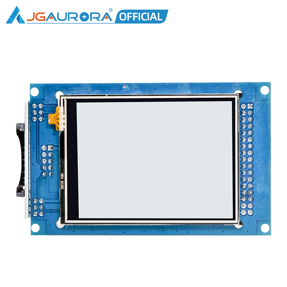 jgaurora a5s impressora 3d display lcd a cores completas tela de toque 2 8 polegada unidade