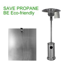 Reflector Heater Propane Patio-Gas Heat-Focusing Outdoor for Round And Baffle