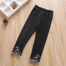 1-6T Baby Girl Pants Lovely Children Toddler Kids New Autumn Cartoon Embroidered Comfortable Cotton Casual Loose #m