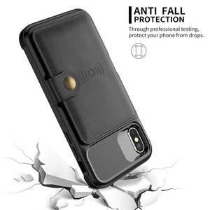 Image 3 - תכליתי עור ארנק מקרה עבור Iphone 12 מיני 11 פרו Xs Max Xr X 8 7 6 6s בתוספת SE 2020 Stand היברידי סיליקון פגוש כיסוי