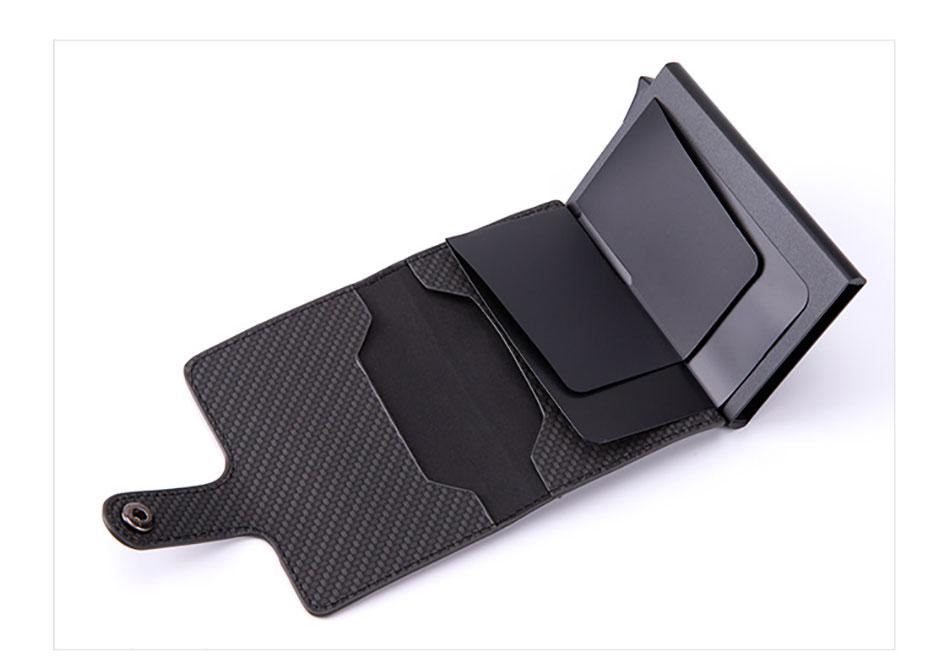 cartão dos homens carteiras fino inteligente minimalista