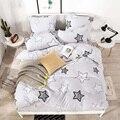 33045497063 - Juego de cama YAXINLAN de algodón puro color A/B patrón de doble cara de dibujos animados simplicidad sábana edredón funda de almohada 4-7 Uds