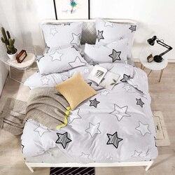YAXINLAN nevresim takımı saf pamuk saf renk A/B çift taraflı desen karikatür sadelik yatak çarşafı yorgan kapak yastık kılıfı 4-7 adet