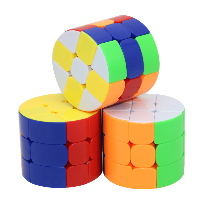 Huilong Three Order Cylindrical Magic Cube Beneficial Wisdom Toys For Children Hobbies Action Toy Birthday Gift