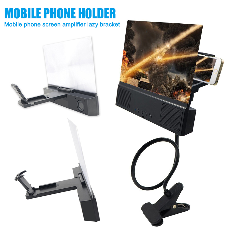 Мобильный телефон 12 дюймов экран Лупа ленивый кронштейн фильмы усилитель с Bluetooth динамик VH99