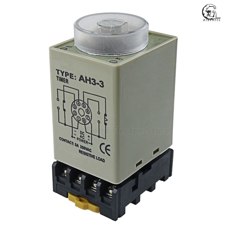 ST3PF DC 24V 10S Power Off Delay Timer Time Relay 24VDC 0-10 Second with Base