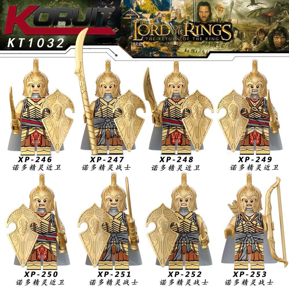 Noldor Elf GUARD ชุด Silmarillion Army ARMOR Ntilde oldor ลึกเอลฟ์ตาตาร์ Gnomes อาคารบล็อกอิฐของเล่น Legoing