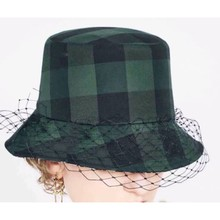 2019 moda damska ochronna powłoka chroniąca przed słońcem jesienno-zimowa damska chusta kapelusz typu bucket wewnątrz wysokiej jakości siatkowy kapelusz rybaka Runway Design tanie tanio COTTON Kobiety Dla dorosłych Mieszkanie 289140 Wiadro kapelusze Plaid Na co dzień