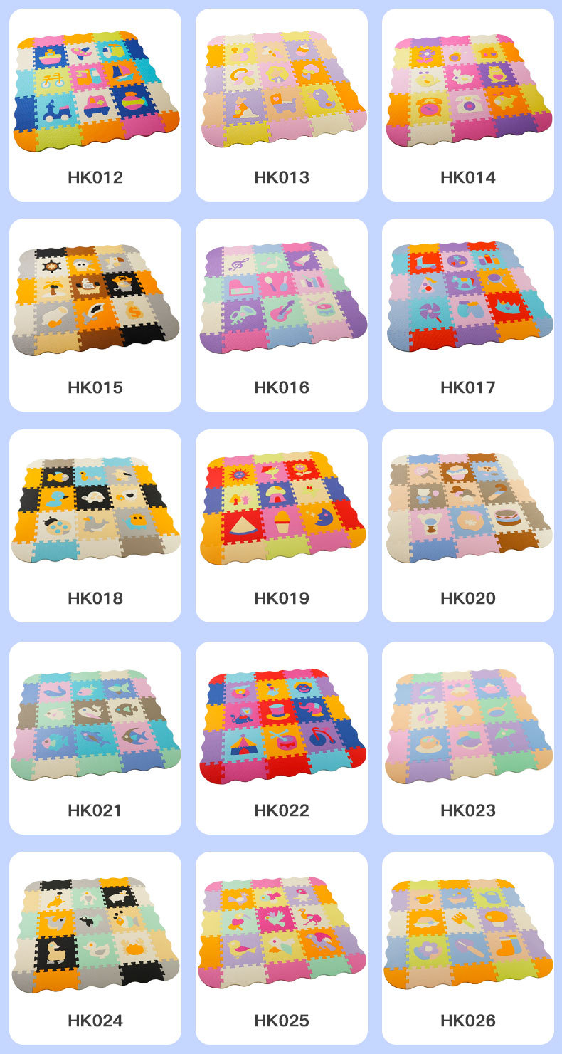 H79a96003a3354886881a2c425e88de16m EVA Foam Play Mat with Fence Baby Puzzle Jigsaw Floor Mats Thick Carpet Pad Toys For Kids Educational Toys Activity Pad