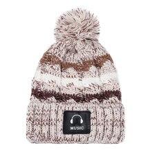 2020 hiver beanie pour les femmes mode Pom Pom bonnets casquette femmes chaud solide épaissir laine chapeau rayure tricot coupe-vent casquette