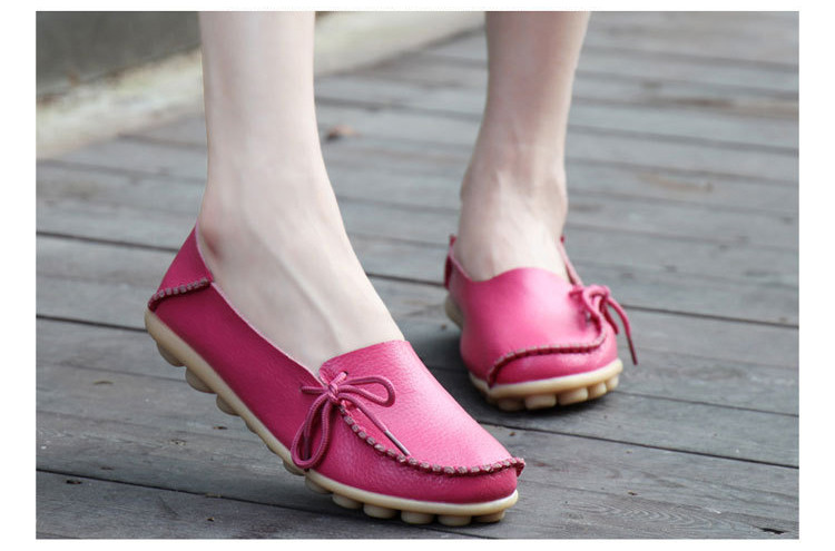 AH 911-2019 Spring Autumn Genuine Leather Women Loafers Walking Mother Flats-10