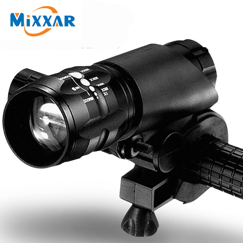 ZK20 Dropshippng Mini 3 Modes Q5 2300LM LED Flashlight Lamp Front Torch Bicycle Light Bike Light Lamp With Torch Holder