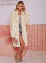 LOOZYKIT  Women 2019 Autumn Winter Fashion Lapel Collar Warm Fluffy Plush Coat Luxury Faux Fur Elegant Outerwear Female Overcoat цена
