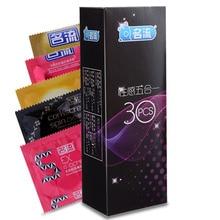 Mingliu 30pcs 5 Kinds Ultra Thin Condoms Sexy Natural Rubber Delight Latex Dots Tolerates Male Contraception Penis Sleeve