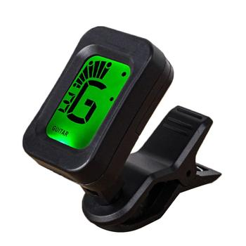 цена на Guitar Tuner Rotatable Clip-on Tuner LCD Display for Chromatic Acoustic Guitar Bass Ukulele Guitar Accessories fast shipping
