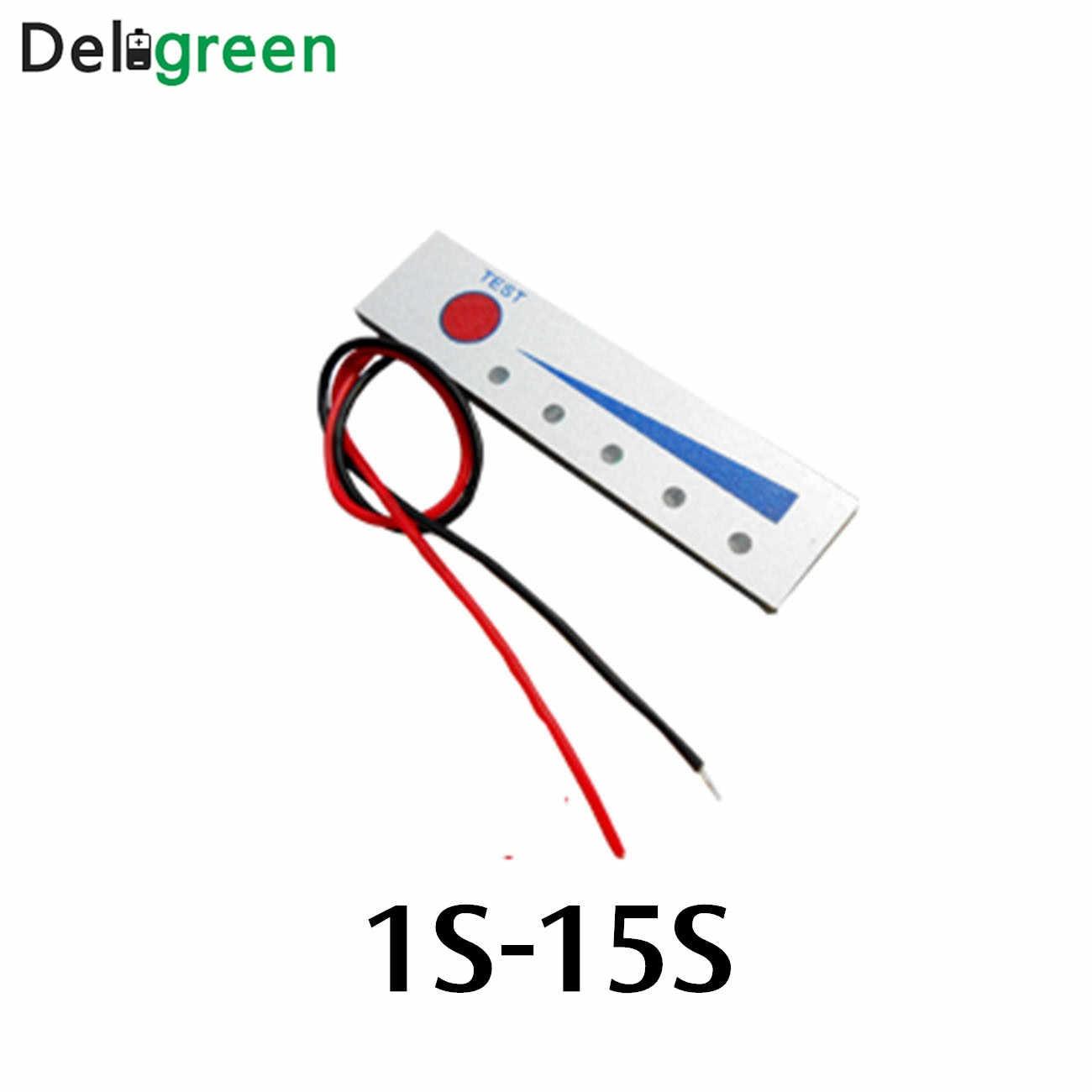 リチウム電池レベル 1 s-15 s インジケータテスター lcd ディスプレイ 18650 リポリチウムイオンバッテリーメーターモジュール