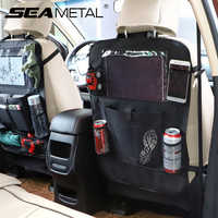 Organizador de coche Almacenamiento de respaldo de asiento colgante para asiento del coche, bolsa de bolsillo para comida, bebida, paraguas, soporte para teléfono, contenedor de almacenamiento de viaje de auto conducción