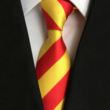 Casual And Comfortable Shopping Fashion Tie New Style Red Yellow Stripe Neck for Men Suit Cravat Wedding Party Neckties