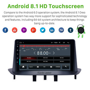 Image 3 - Seicane 9 인치 GPS 차량용 멀티미디어 플레이어 2Din Android 9.1 for Renault Megane 3 2009 2010 2011 2013 2014 Carplay SWC 지원