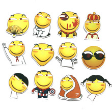 12 Pcs Sticker Sheets Emoji Stickers Smile Face Set for Notebook Stitch Funny Emoticon Bag Computer Phone Toys