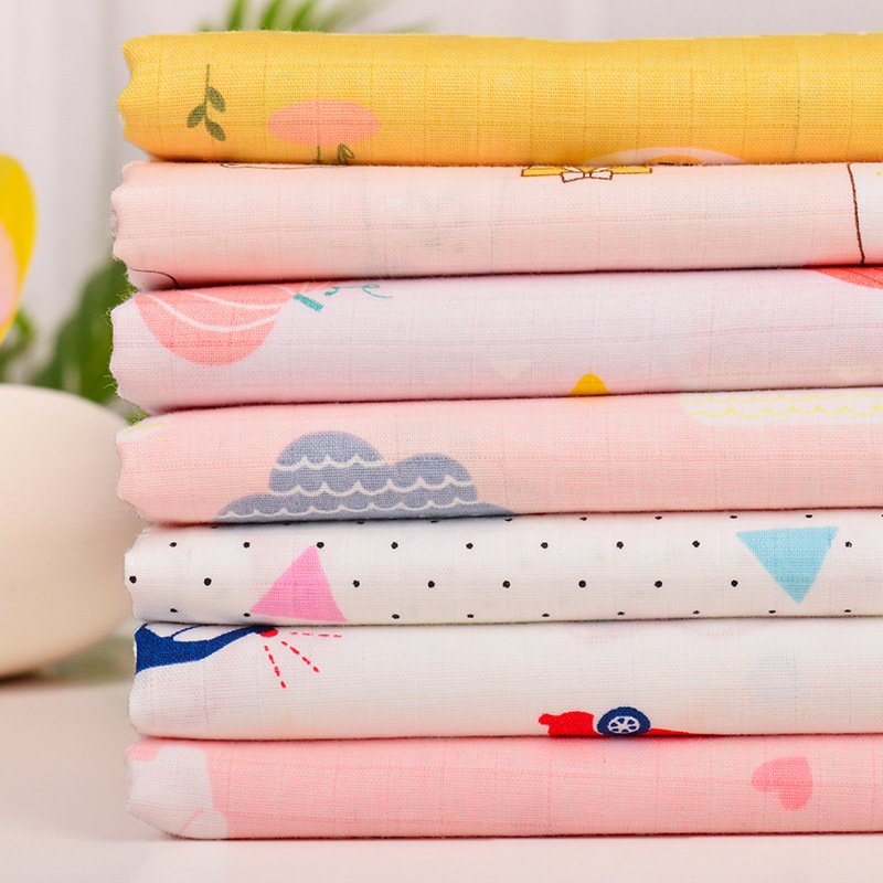 Cotton Fabric Clothing Fabric Casual Plant Printed Children Home Textile DIY Fabric Cartoon Geometric Printed 100% Cotton Fabric