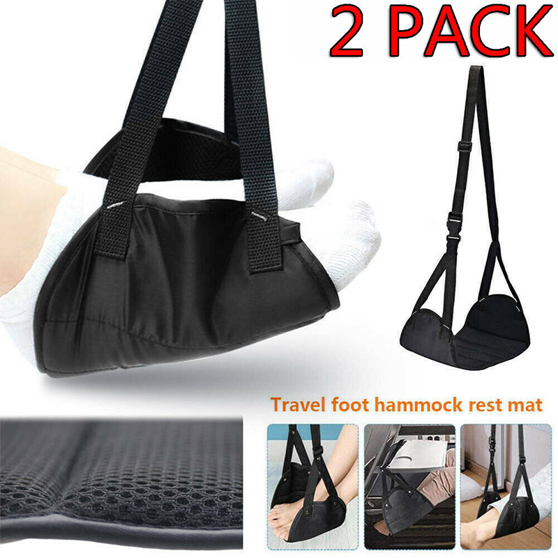 Foot Leg Hammock Foot Rest Carry-on Feet Rest Comfy Hanger Airplane Footrest Made With Premium Memory Foam Resting For Travel