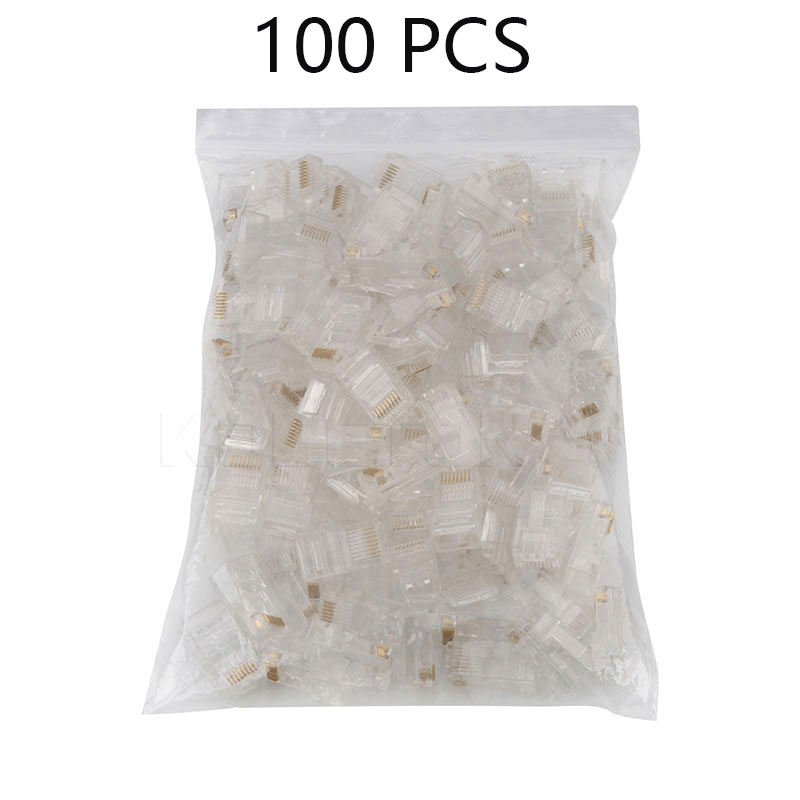 50/100 Pieces 8P8C RJ45 Modular Plug For Network CAT5 LAN Professional And High Quality