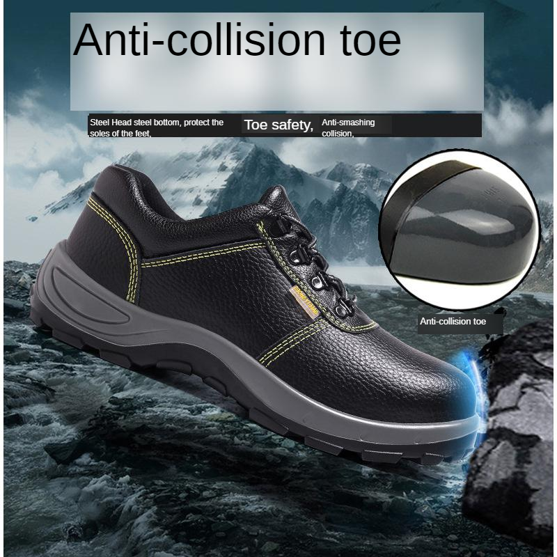 Spring And Summer Stab Smashing Safety Shoes Lightweight Non-Slip Shoes Breathable Deodorizing Deltaplus End Safety Shoes