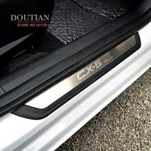 Estilo de coche para Mazda cx-5 CX5 2017 2018 2019 puerta travesaño placa bienvenida Pedal de protección de acero inoxidable accesorios para el coche